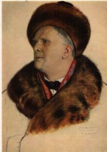 Кустодиев Б. «Портрет Федора Шаляпина»